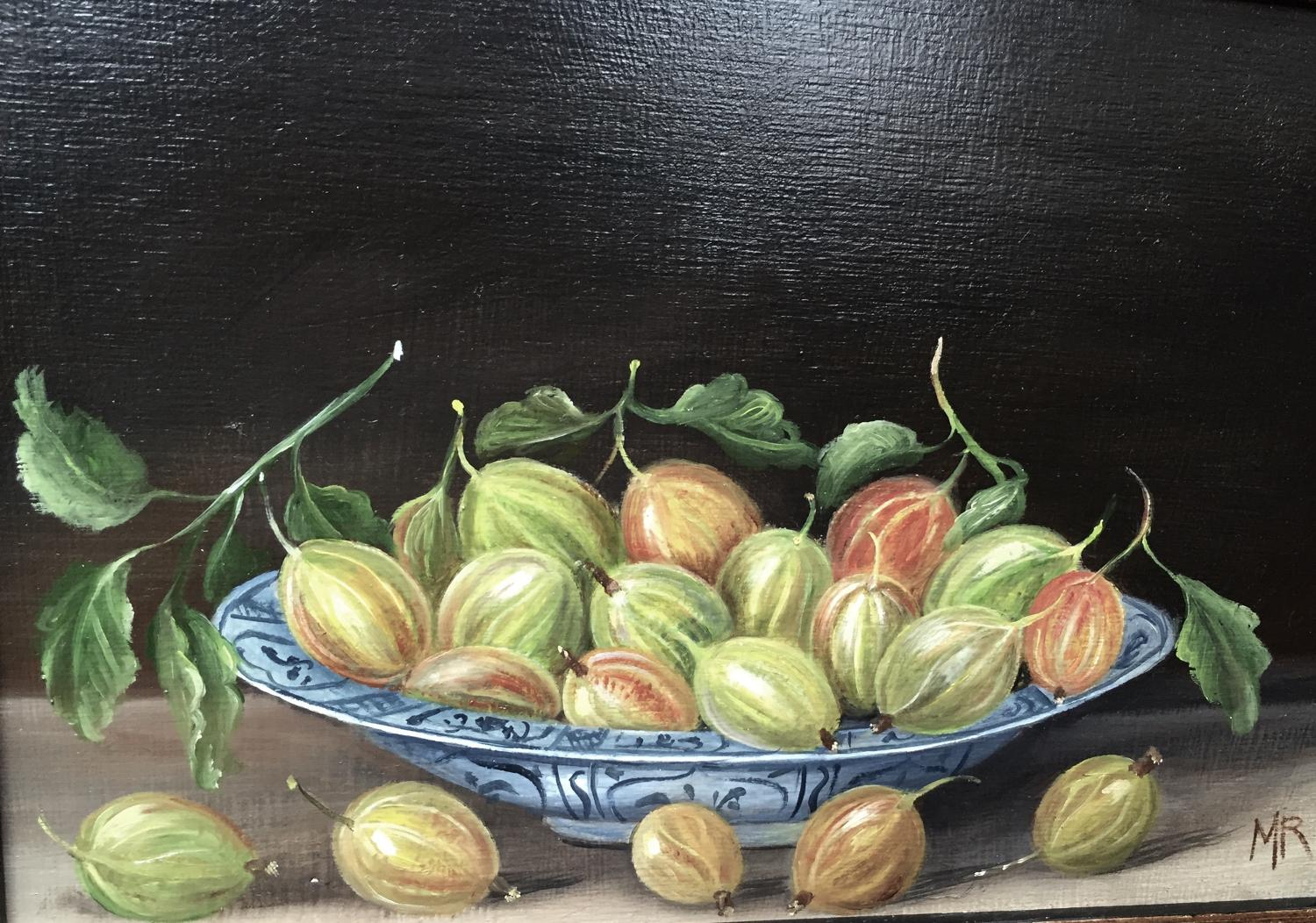 Painting of gooseberries