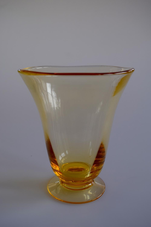 Amber Whitefriars vase