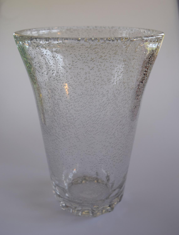 Tall Daum bubble vase