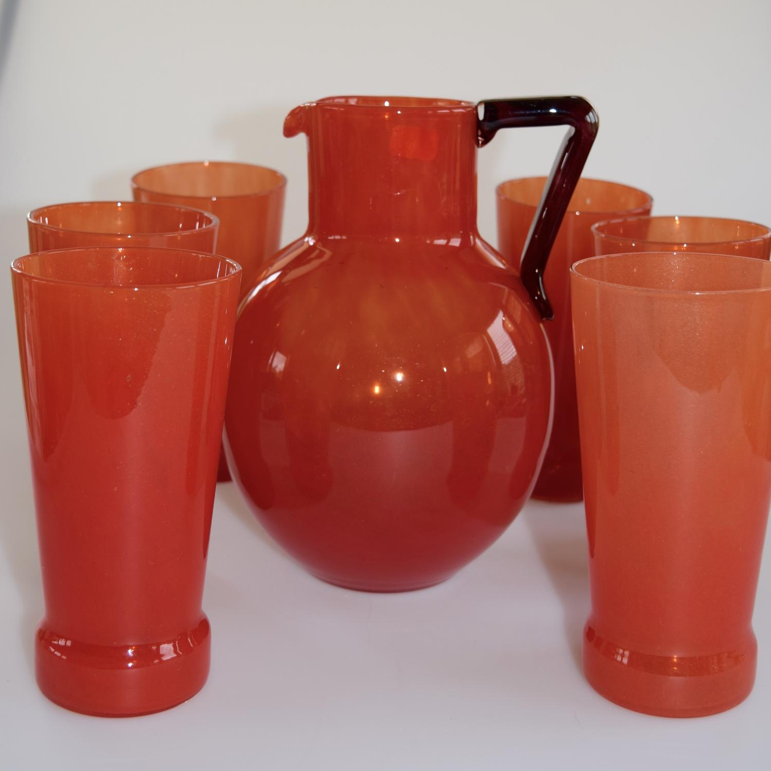 Jug and 6 glasses by Schneider.