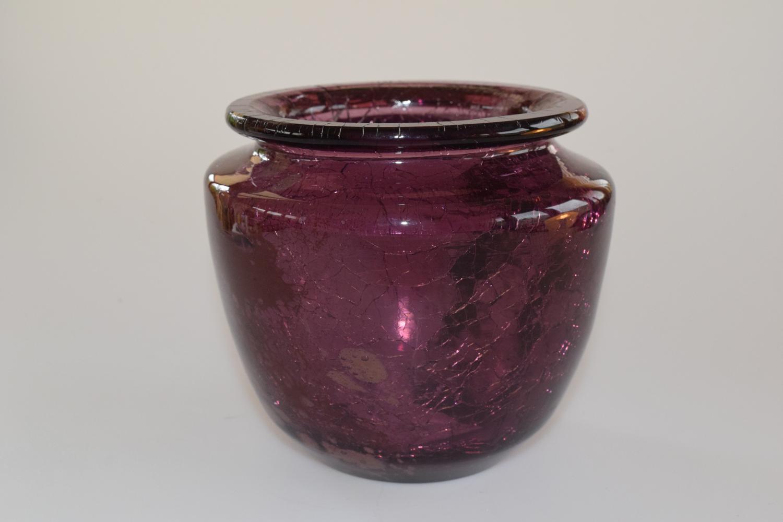 Crackle vase.