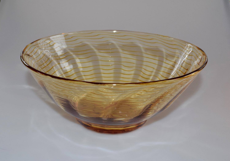 Yellow threaded bowl.