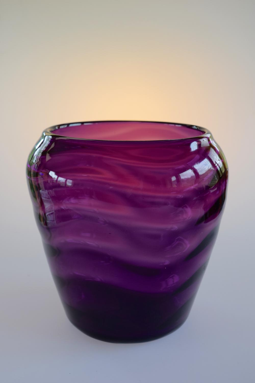 Amethyst wave vase.