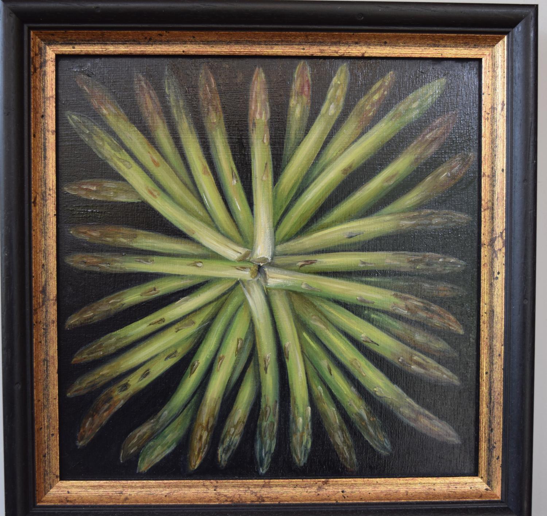 Asparagus on a plate.