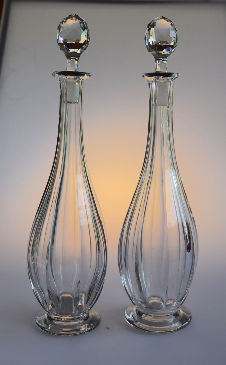 Pair of Baccarat decanters