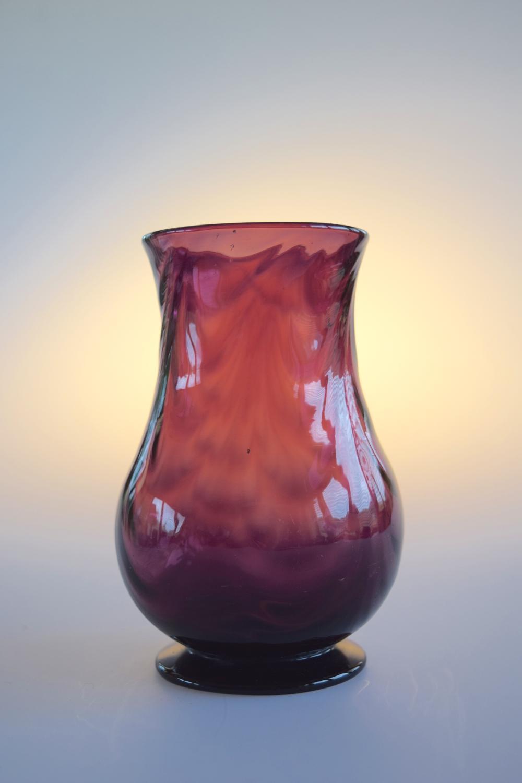 Small amethyst vase.