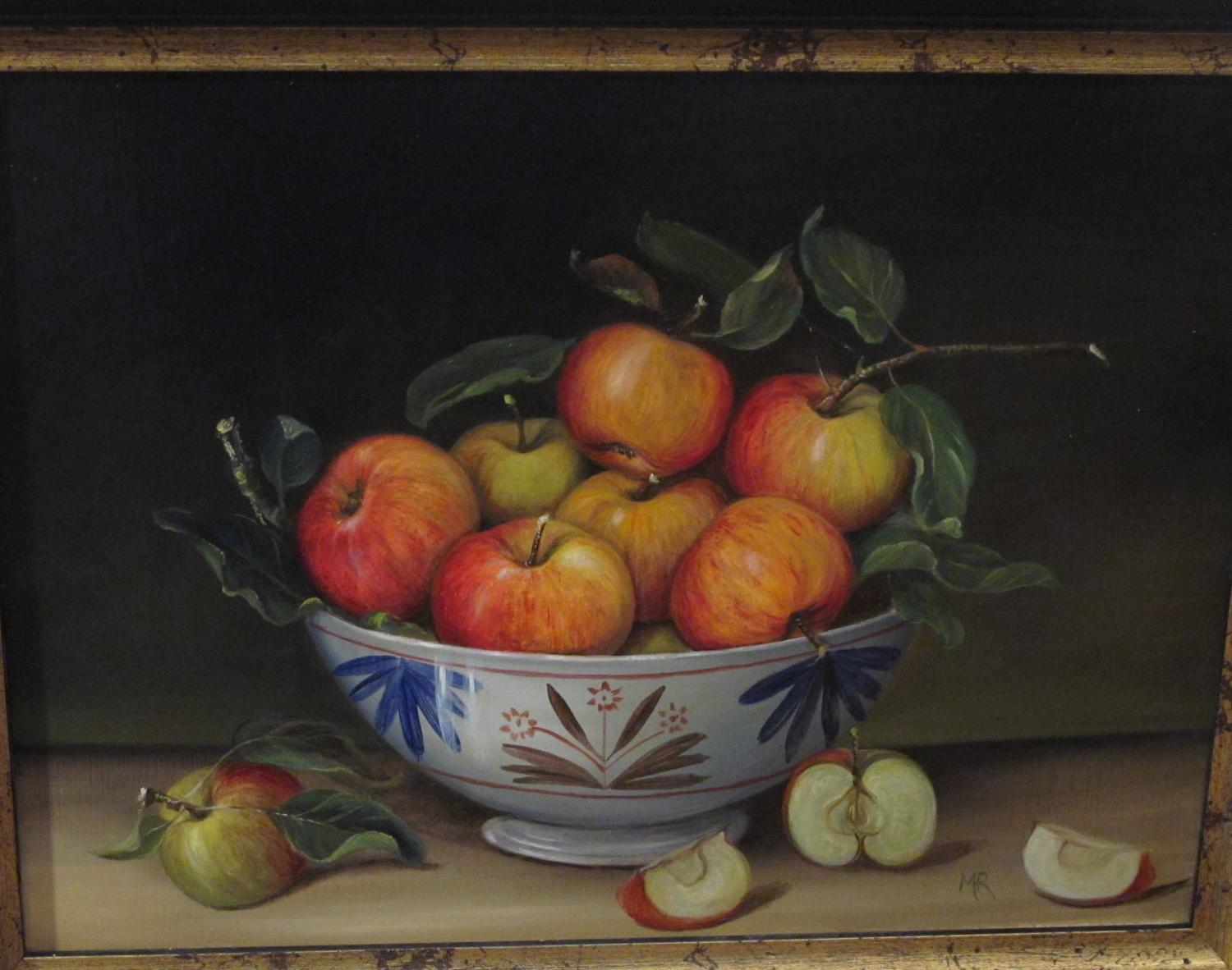 Painting of apples