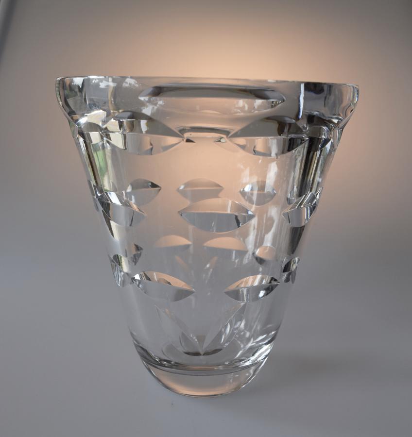 Slovinian moulded glass vase.
