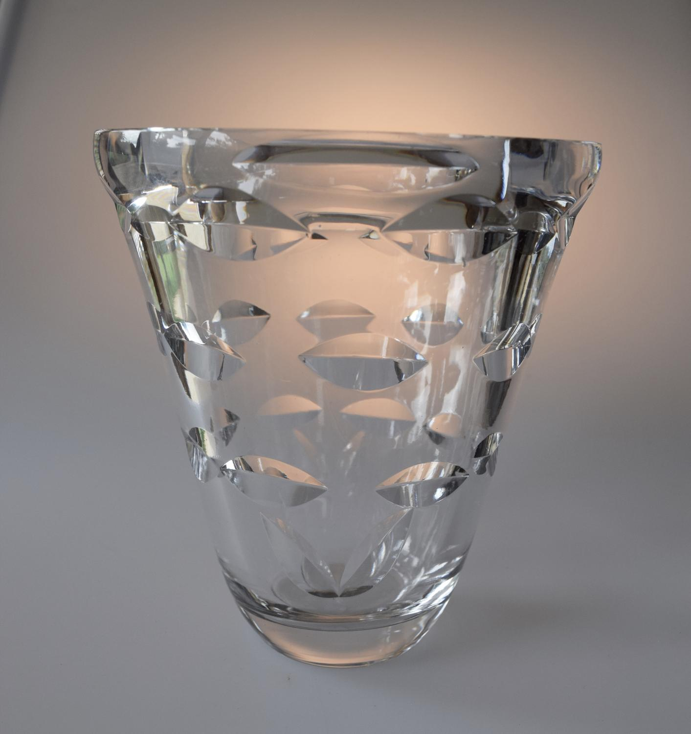 Slovinian moulded glass vase.