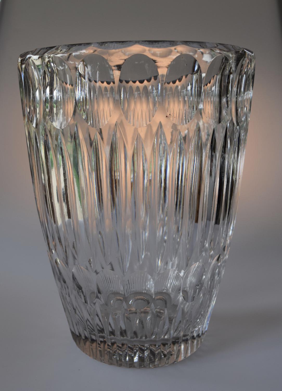Very large Whitefriars flint cut vase.