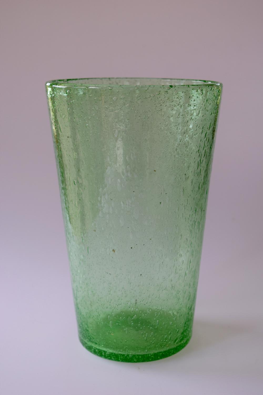 Green bubble bucket vase, Walsh.