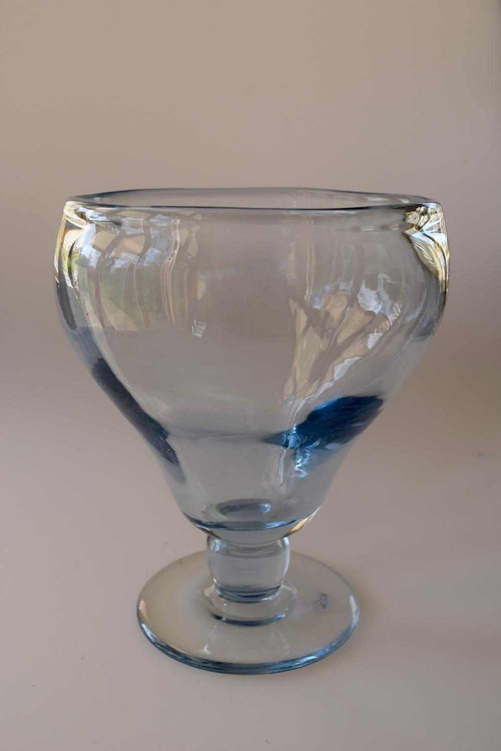 Chalice sapphire blue vase, Whitefriars.