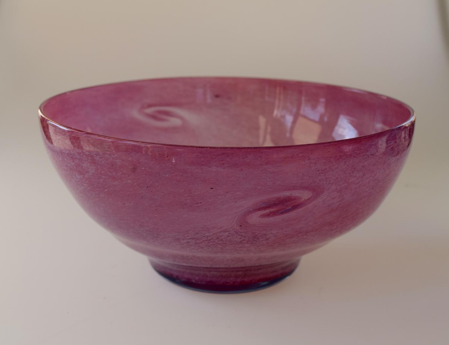 Pink cloudy Whitefriars bowl