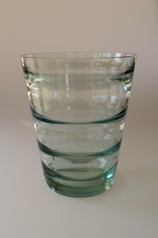 Optic green vase.