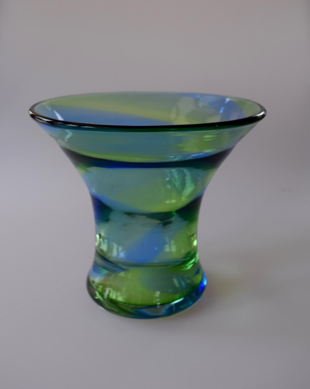 Rainbow vase, Stevens and Williams