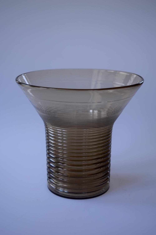 Smokey Art Deco Daum vase.