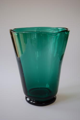 Emerald Green Whitefriars Vase In 20th Century Glass