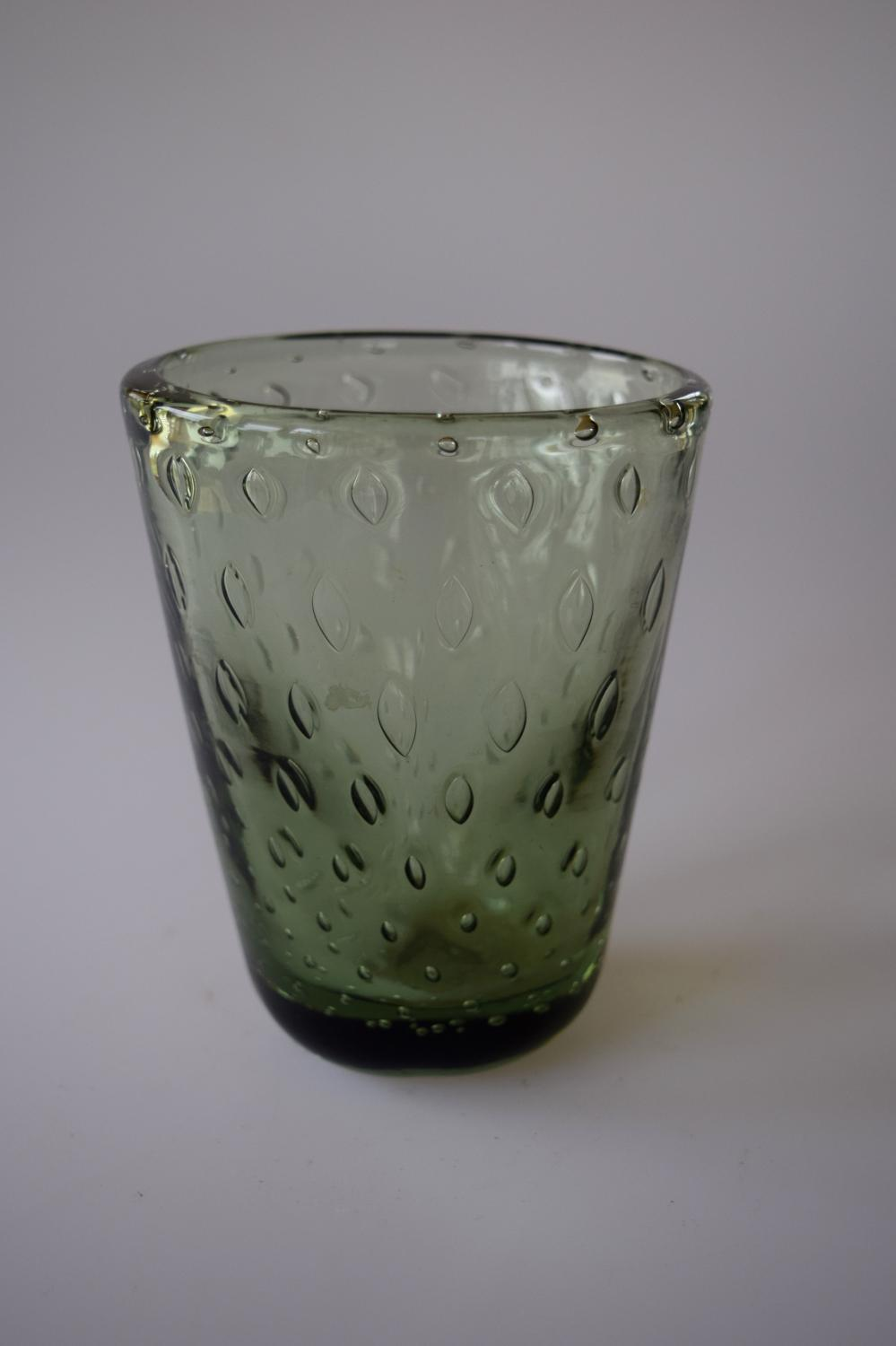 Small bubble vase, Whitefriars