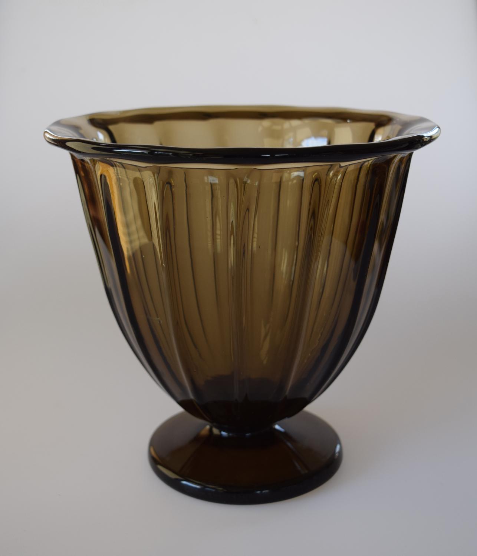Smokey Daum vase