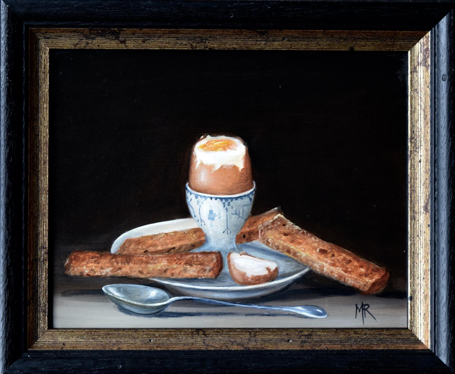 Boiled egg and soldiers.