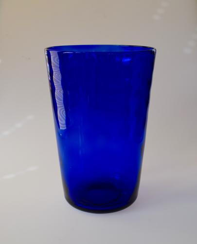 Sanctuary Blue Whitefriars Vase In 20th Century Glass