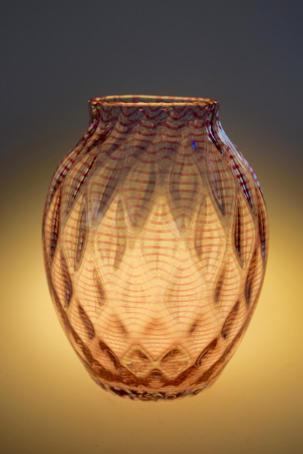 Stephens and Williams threaded vase