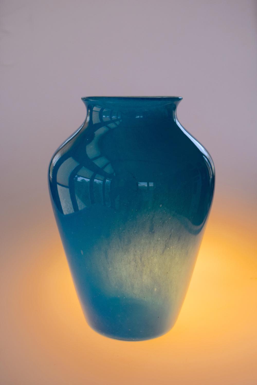 Blue cloudy vase.