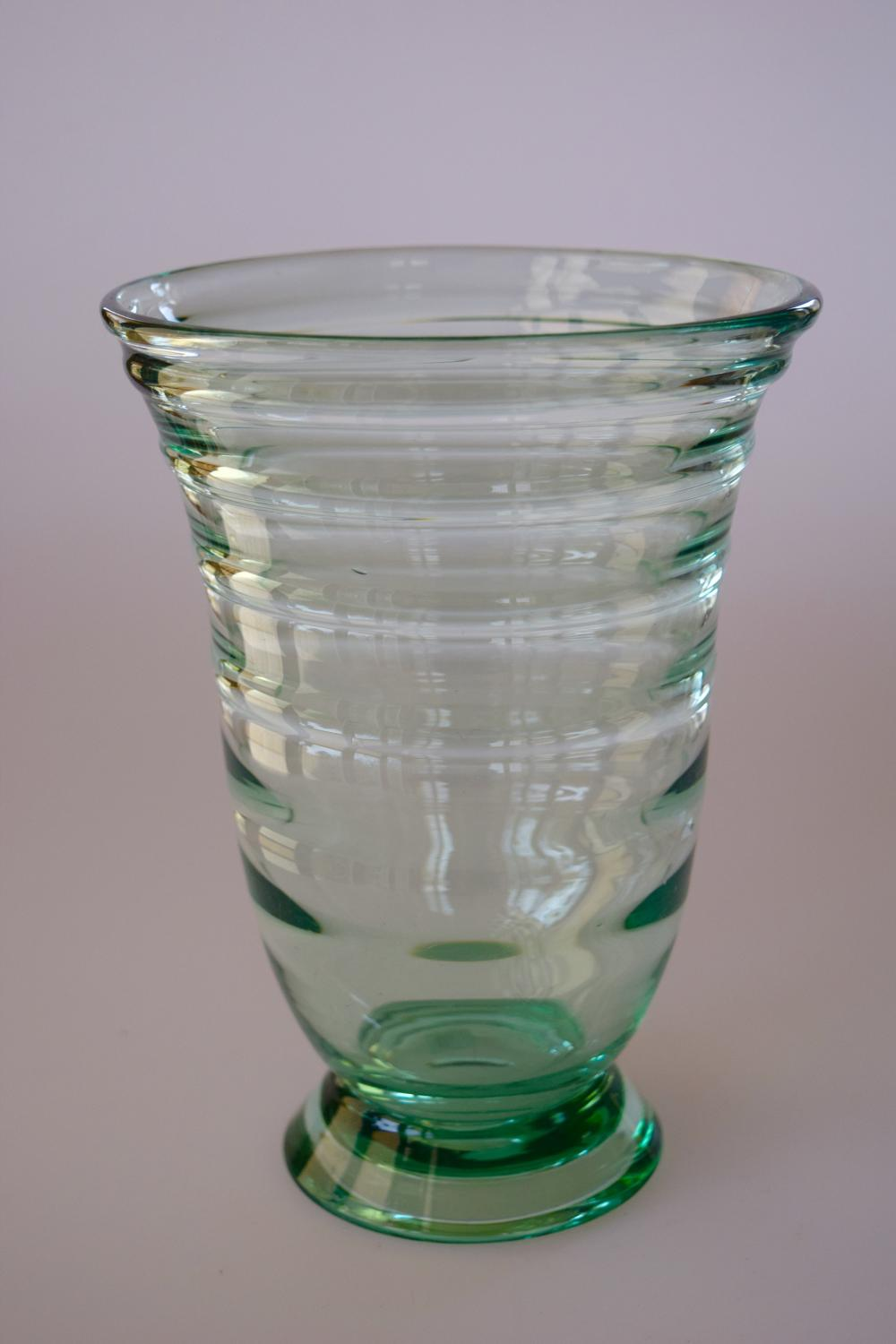 Ribbed vase by  Whitefriars