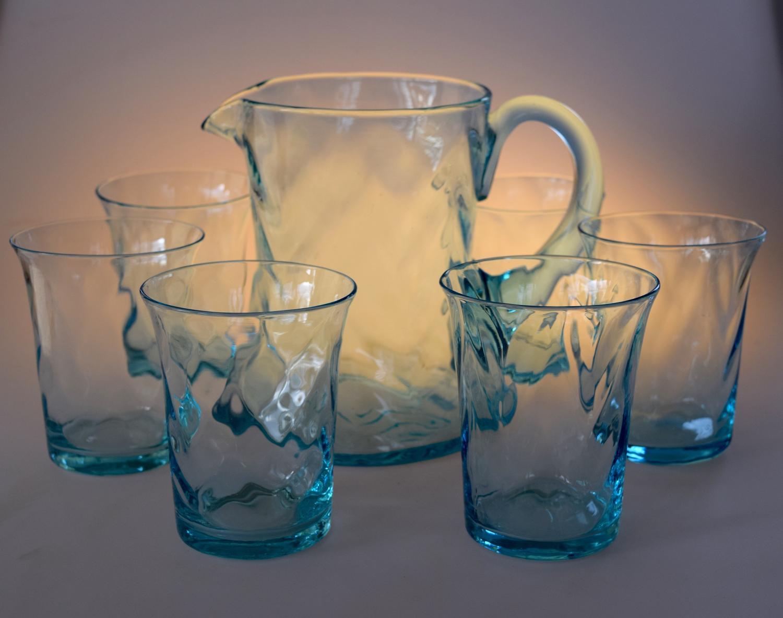Set of jug and glasses