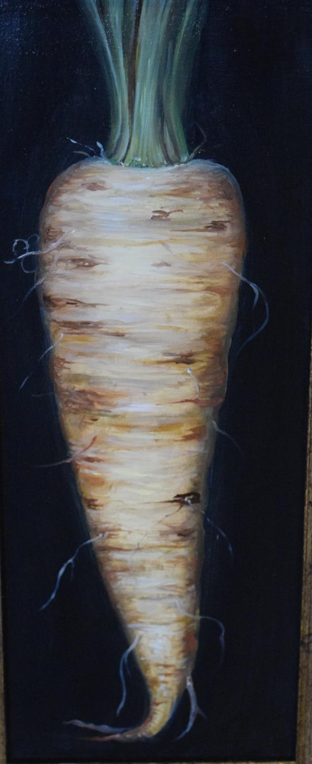 Painting of a parsnip