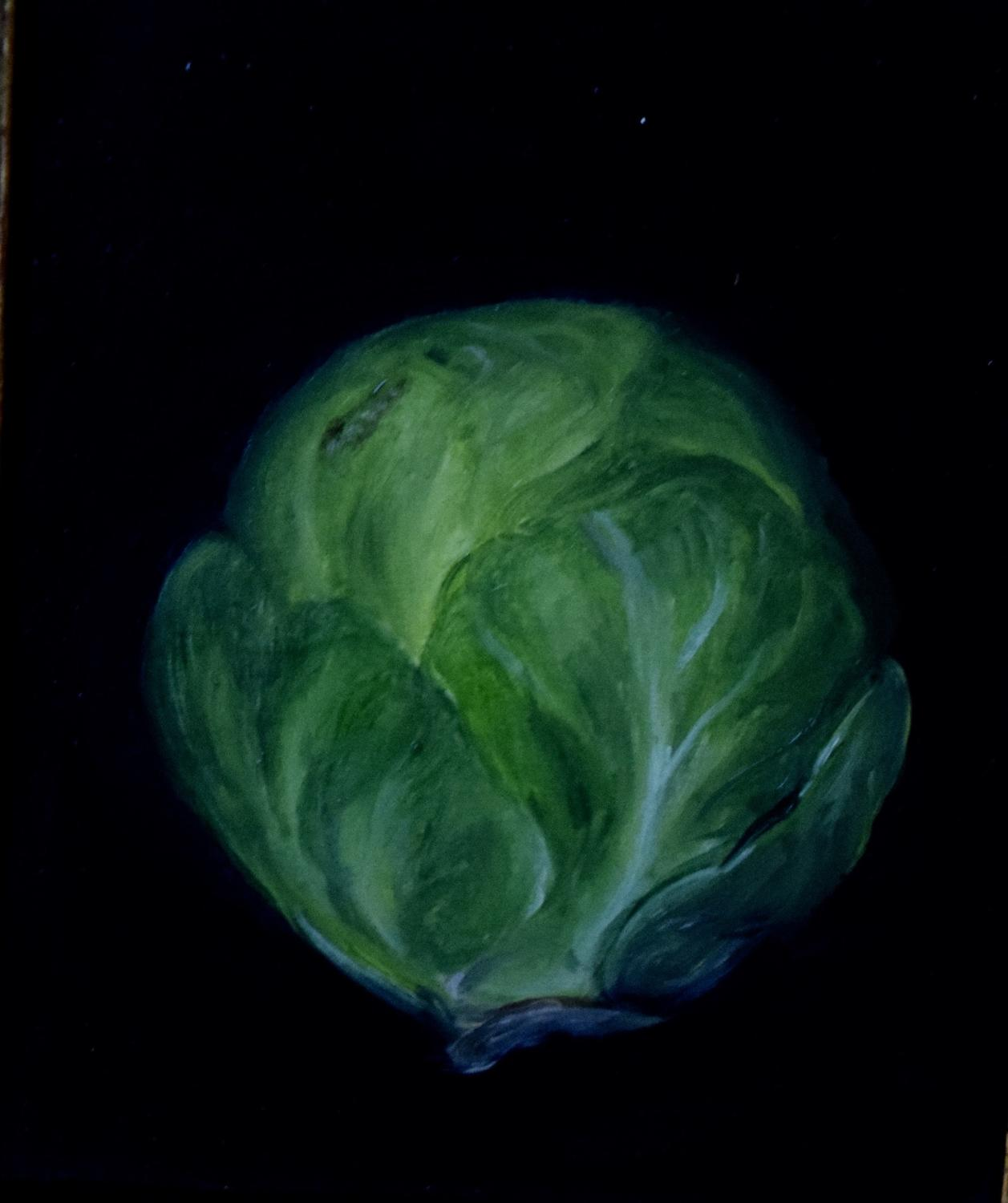 Painting of a brussel sprout