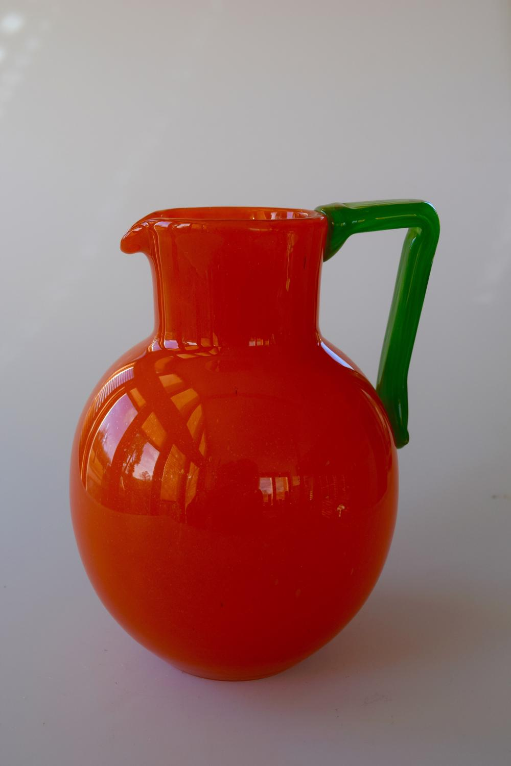Orange jug by Schneider