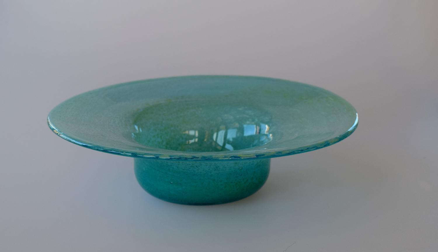 Nazeing blue and green cloudy bowl