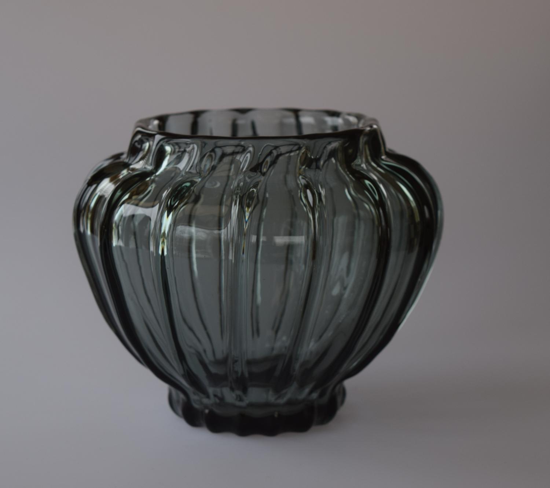 Grey/blue Daum vase