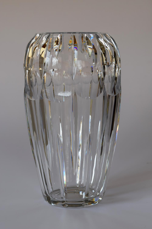 Baccarat cut vase.