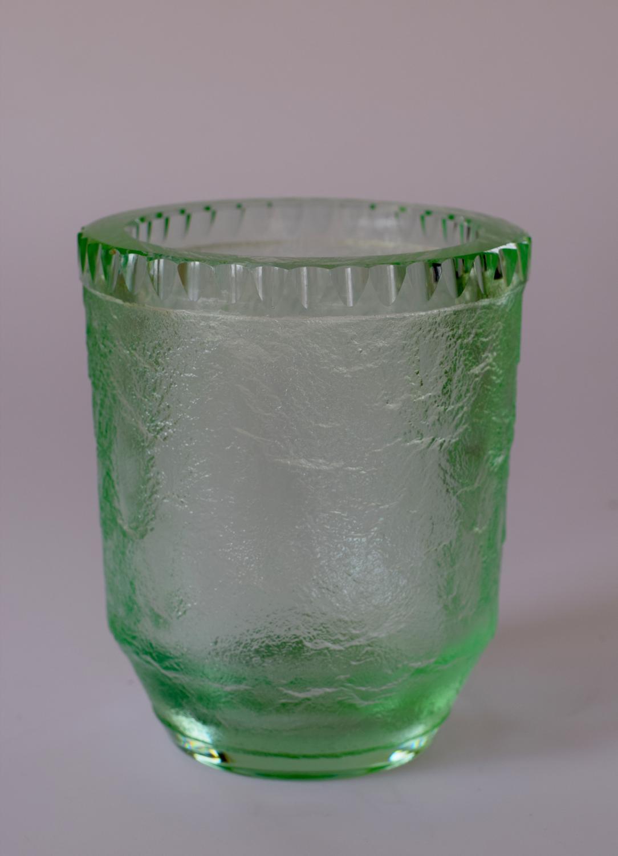 Green Daum vase.
