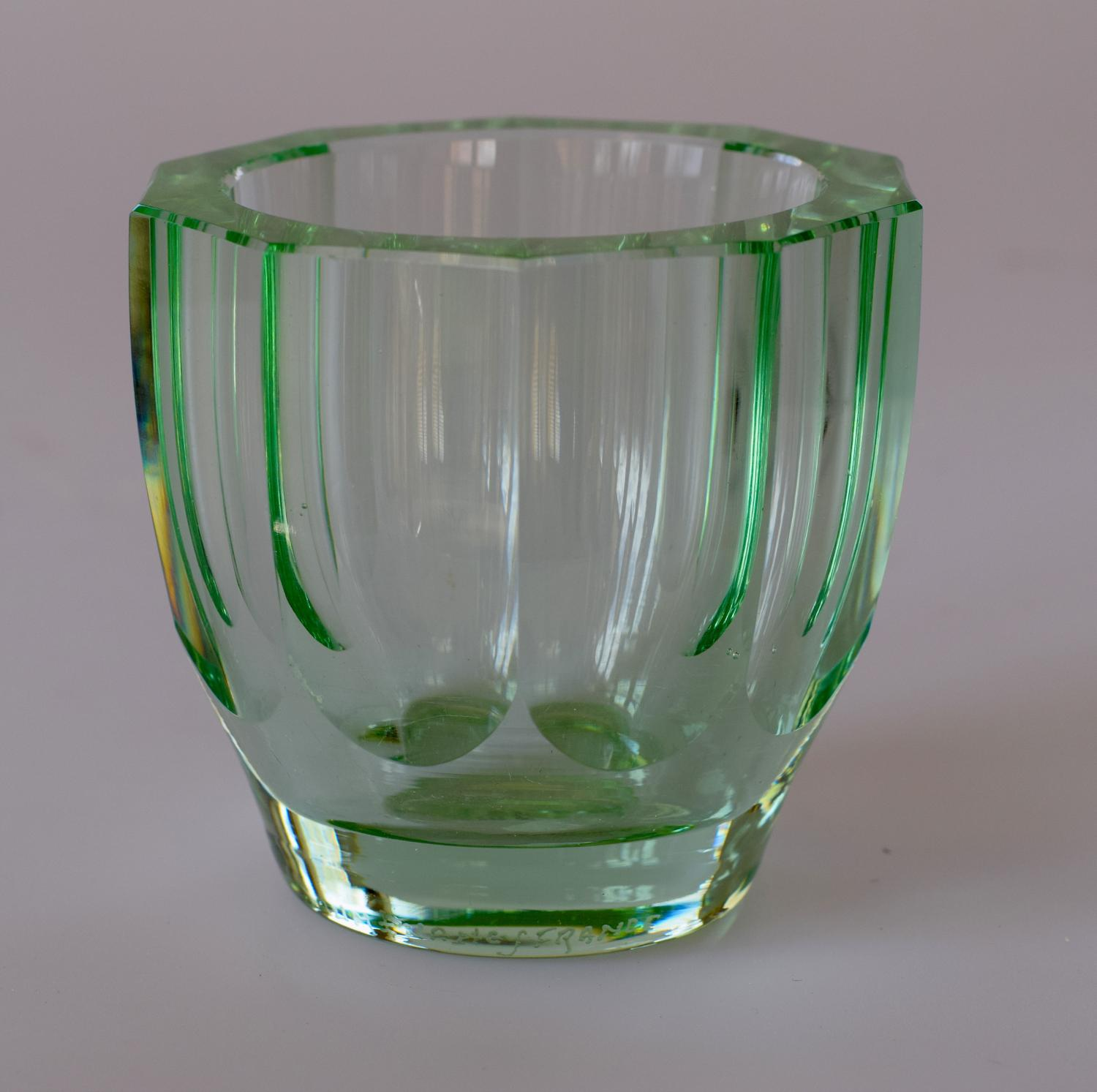 Small green Art Deco vase by Daum