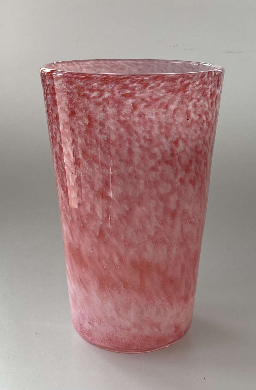 Nazeing cloudy pink tumbler vase.