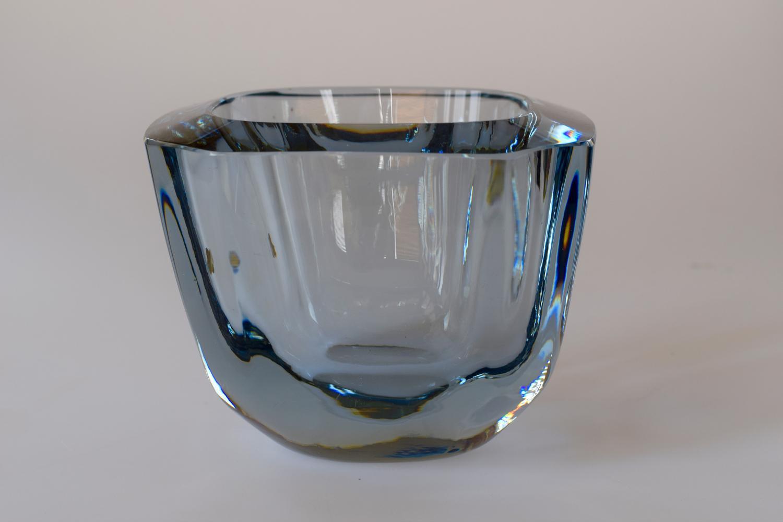 Stromberg blue square vase/bowl.