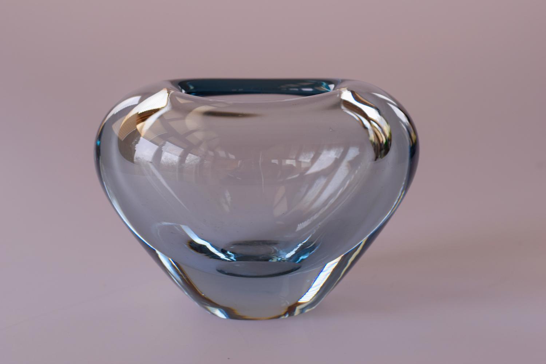 Blue Holmegaard vase
