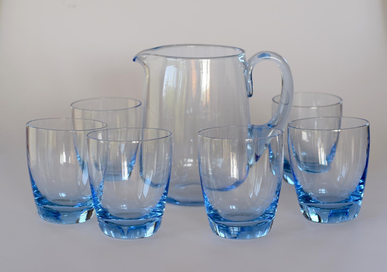 Sapphire blue lemonade set