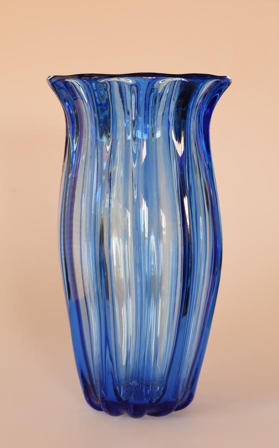 Huge blue Webb vase.