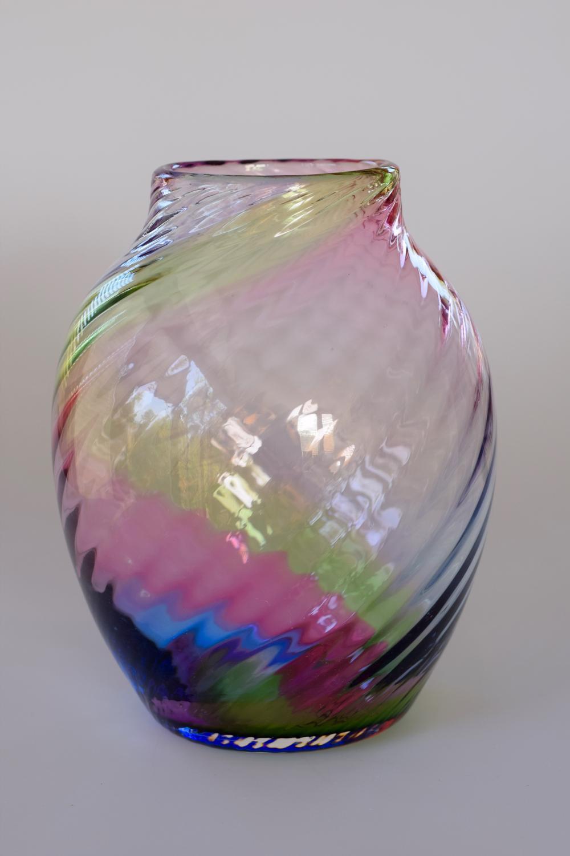 Stevens and Williams rainbow vase