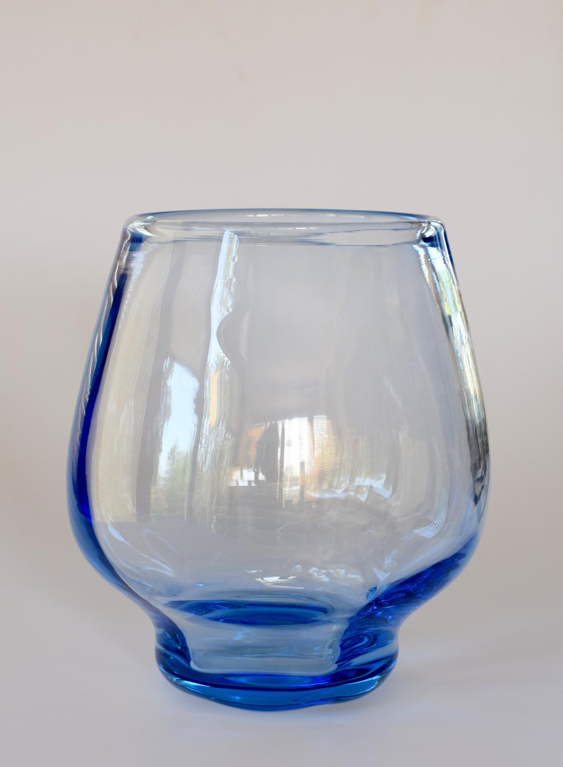 Sapphire  vase , Barnaby Powell for Whitefriars
