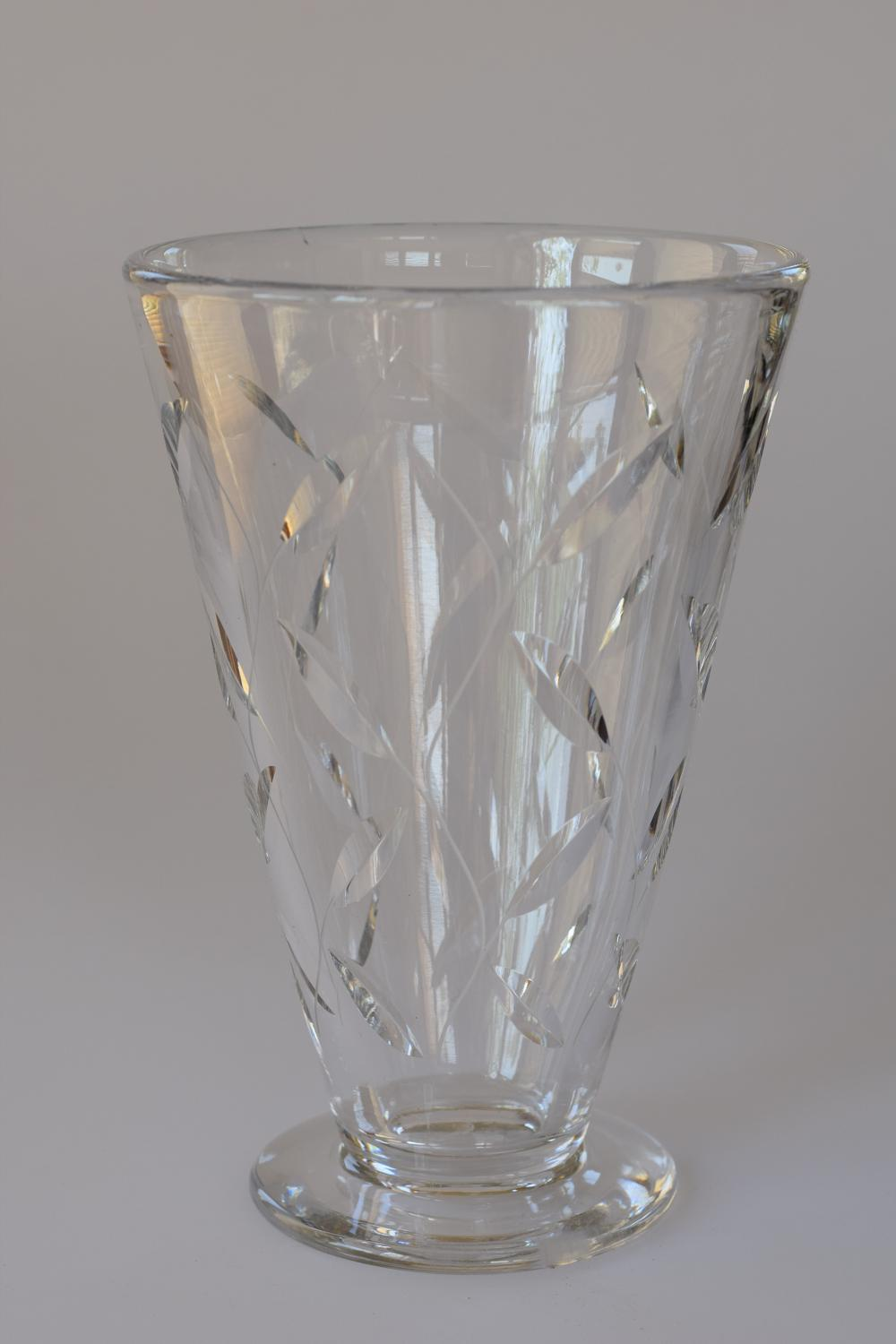 Leaf design vase by Clynne Farquarhson.
