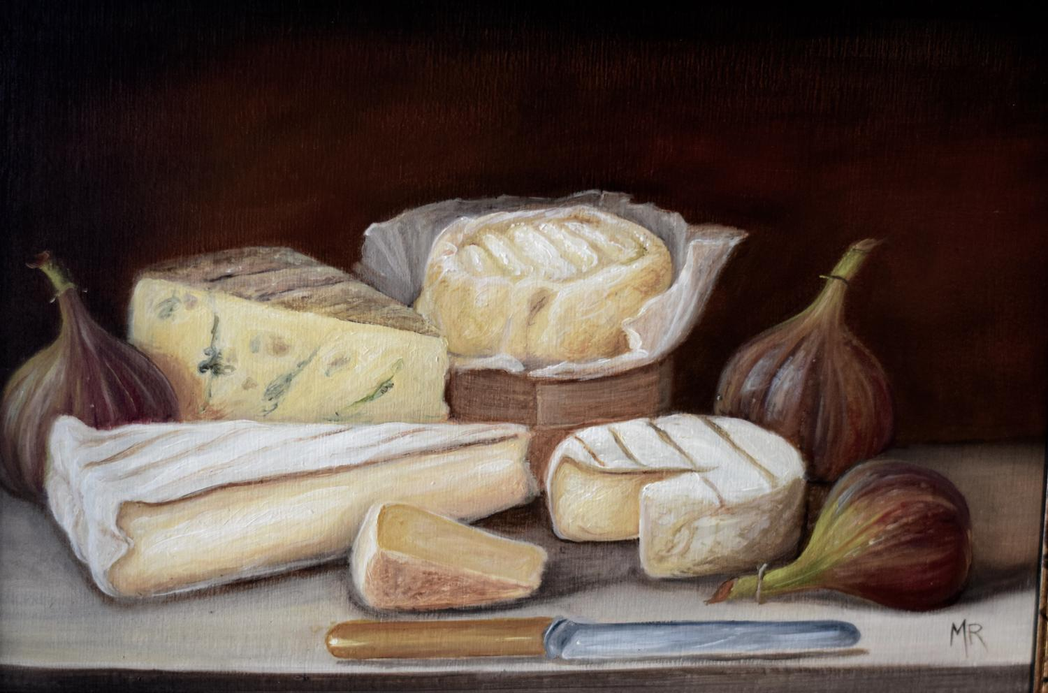 Still life of cheese
