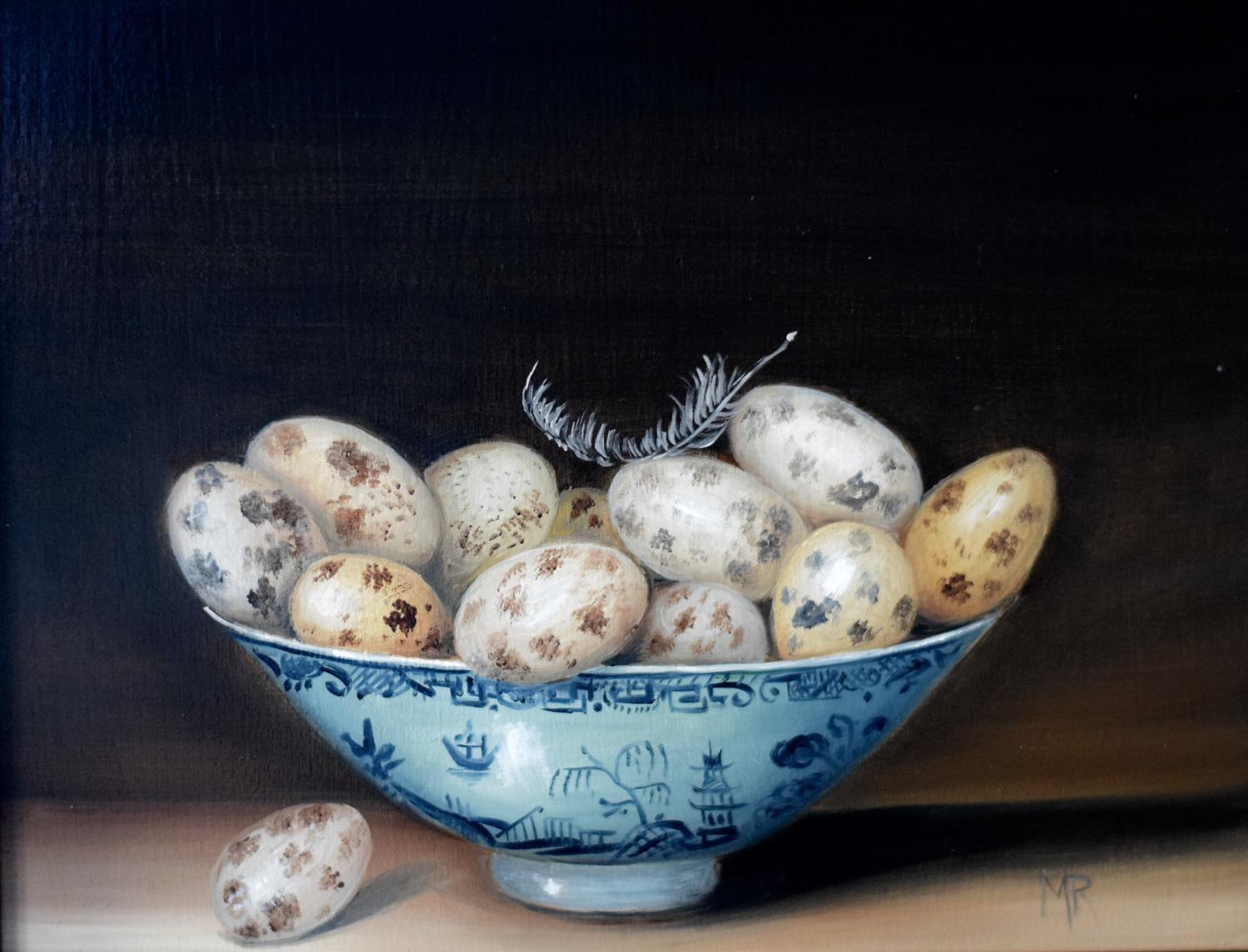 A bowl of quail's eggs