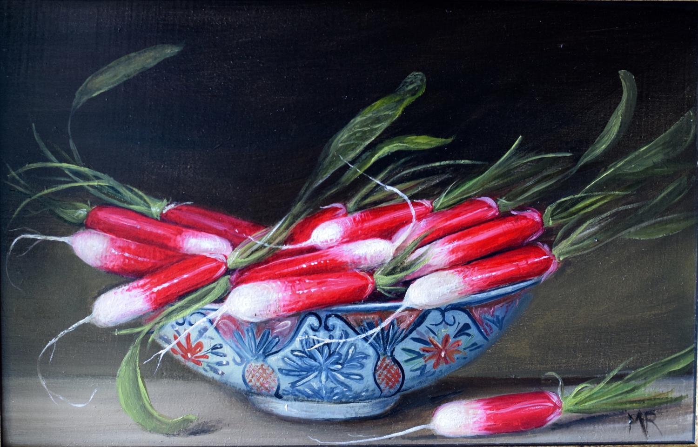 Bowl of radishes