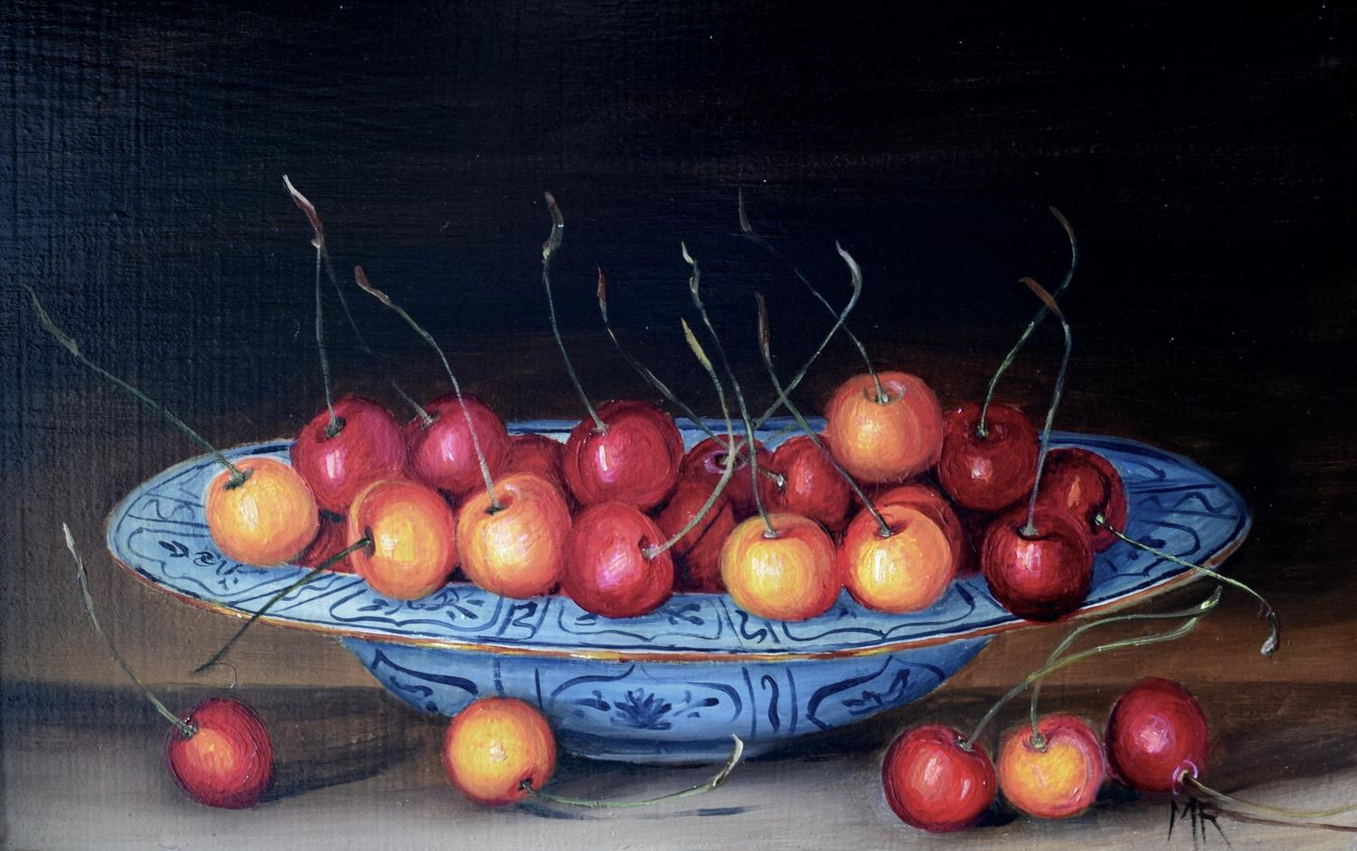 A plate of cherries