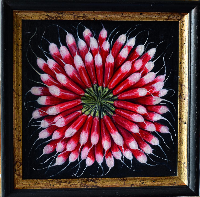 Circle of radishes